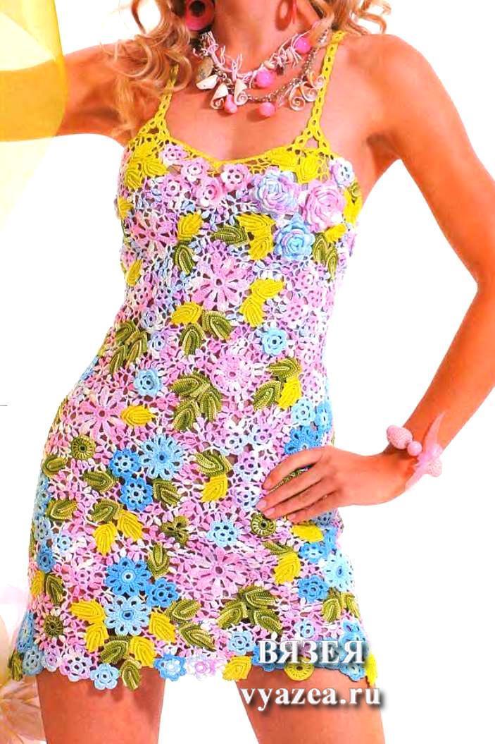 уроки видио листочки крючком на детском платье, Вязание крючком листочки для цветов., Детское платье на выпускной