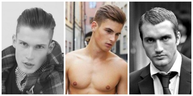 прически для парней на бок средние волосы