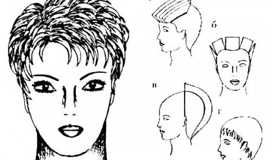 Прически на короткий волос со схемами