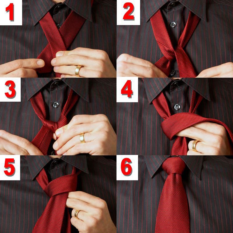 Завязать двойной галстук пошагово