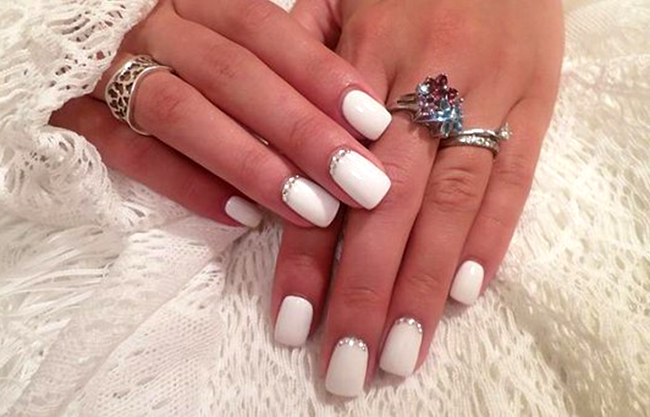 Дизайн ногтей фото белый