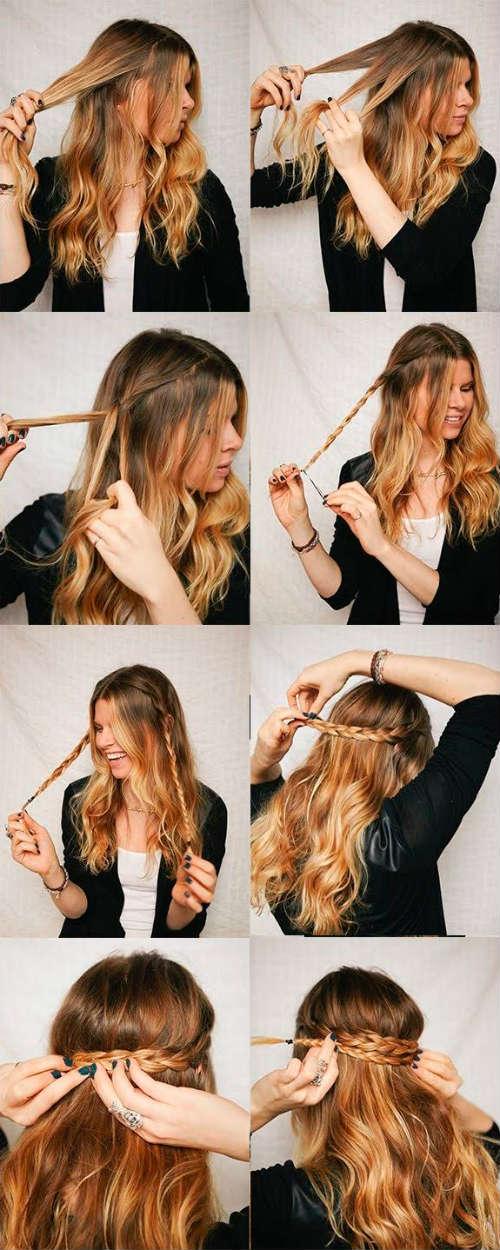 Простые прически для длинных волос на день рождения