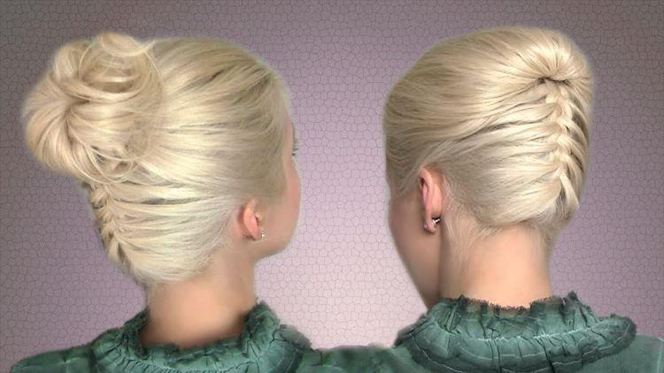 Причёски плетением своими руками фото