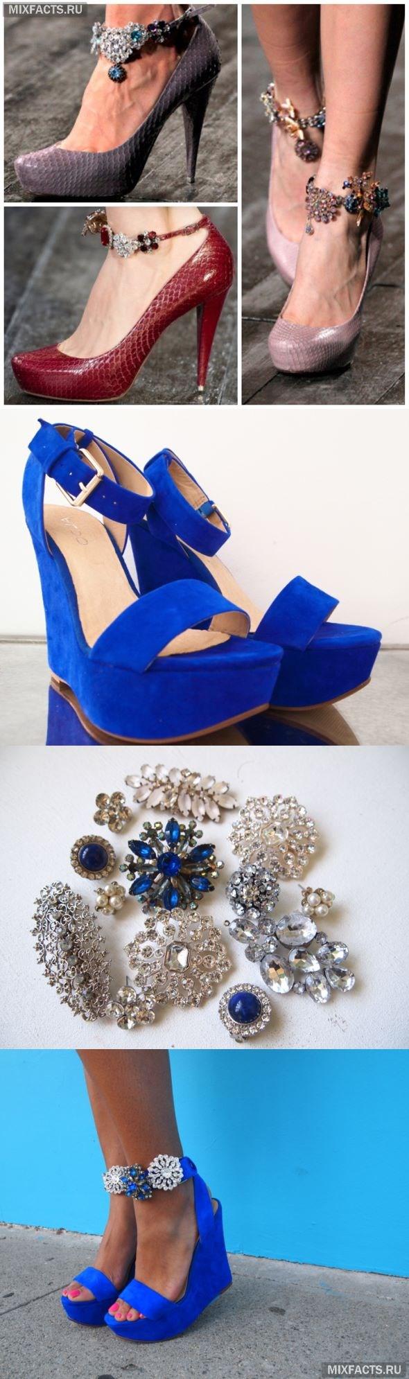 Переделка обуви своими руками / чем украсить босоножки обувь