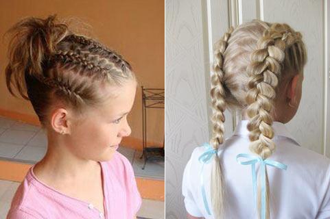 Детские прически своими руками на средние волосы видео