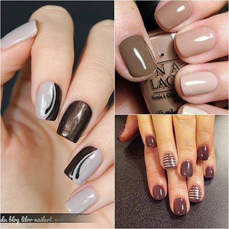 Шеллак коричневый дизайн
