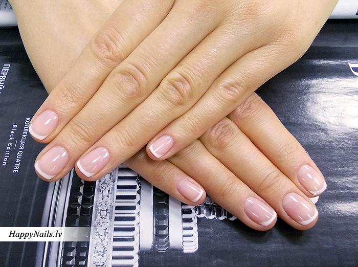 Френч гель лаком на короткие ногти фото дизайн
