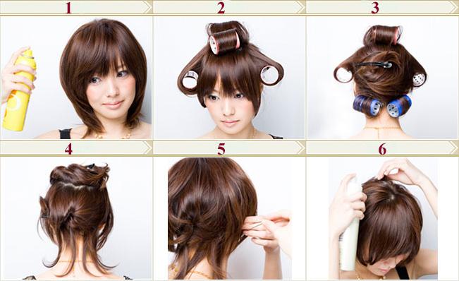 Причёски для круглого лица на средние волосы в домашних условиях