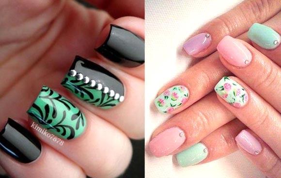 Идея дизайна на короткие ногти