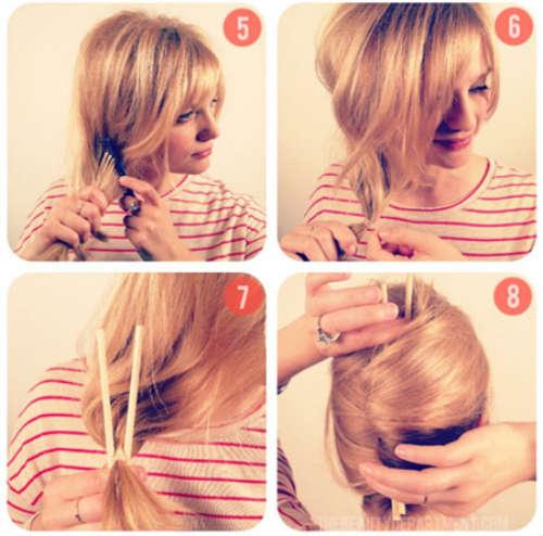 Прически на средние волосы своими руками инструкция фото