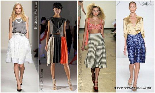 юбка шестиклинка тенденции моды в картинках: