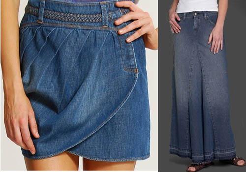 Джинсовая достойна юбка внимания еще и тем, что подчеркнуть способна достоинства любой девушки
