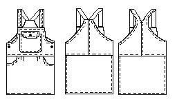 Выкройка сарафана рассчитана на 24 размер. (выкройка дана без припусков на швы