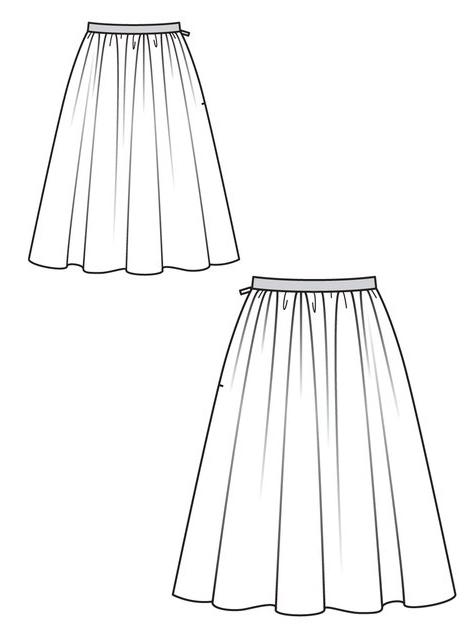 выкройка летней юбки фото: