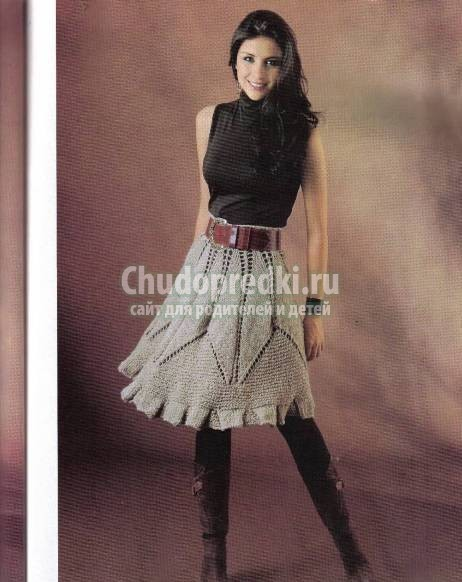 Вязаные юбки - схемы